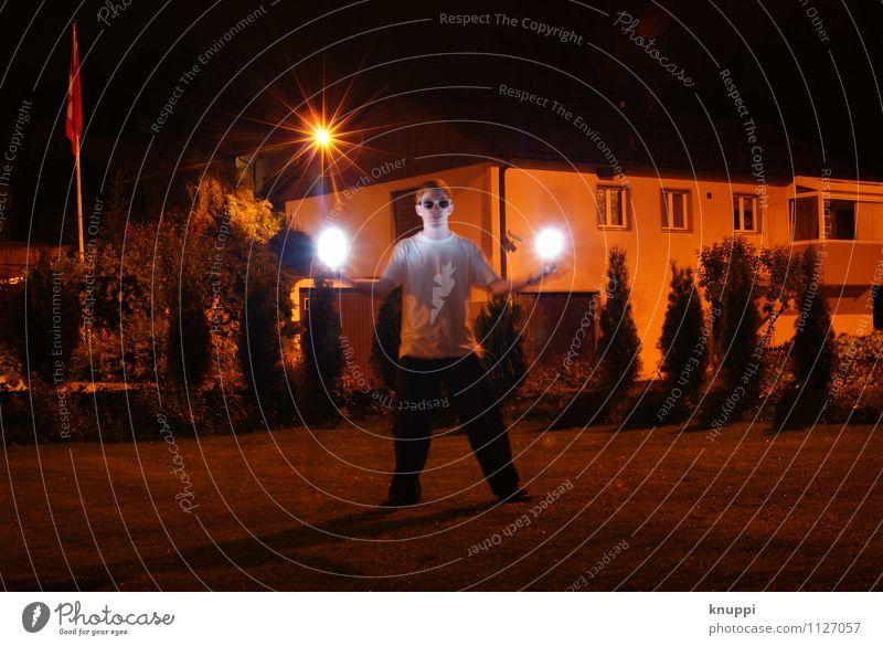 lightfight III Freude Freizeit & Hobby Spielen Abenteuer Freiheit Sommer Haus Nachtleben Party Mensch maskulin Junger Mann Jugendliche Erwachsene Bruder