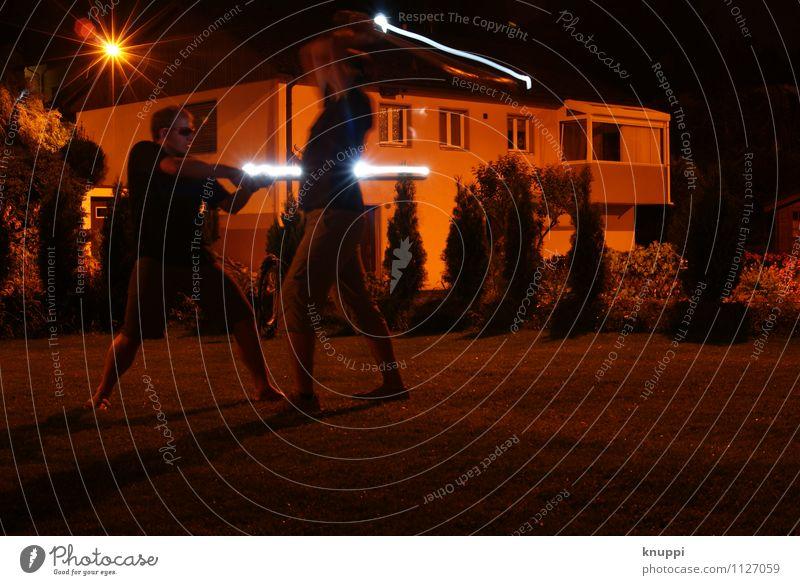 lightfight Mensch maskulin Junger Mann Jugendliche Erwachsene Geschwister Bruder Freundschaft Leben 2 13-18 Jahre Kind 18-30 Jahre kämpfen leuchten Spielen