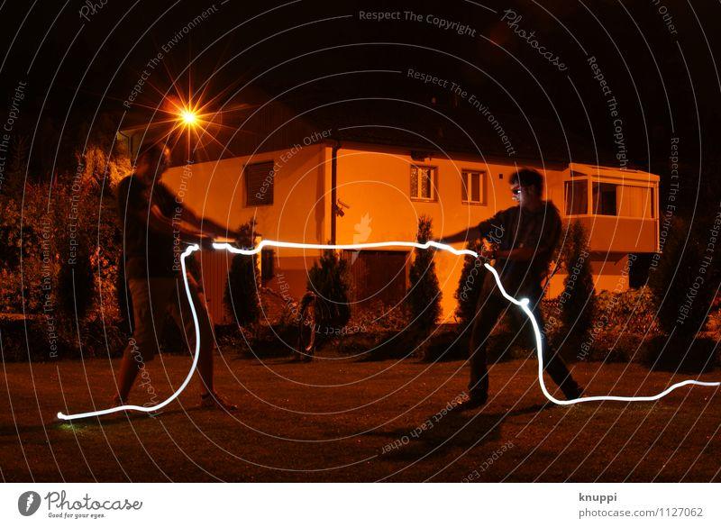 Lichtseilziehen Design Sport Fitness Sport-Training Mensch maskulin Junger Mann Jugendliche Erwachsene Geschwister Familie & Verwandtschaft Freundschaft Leben 2