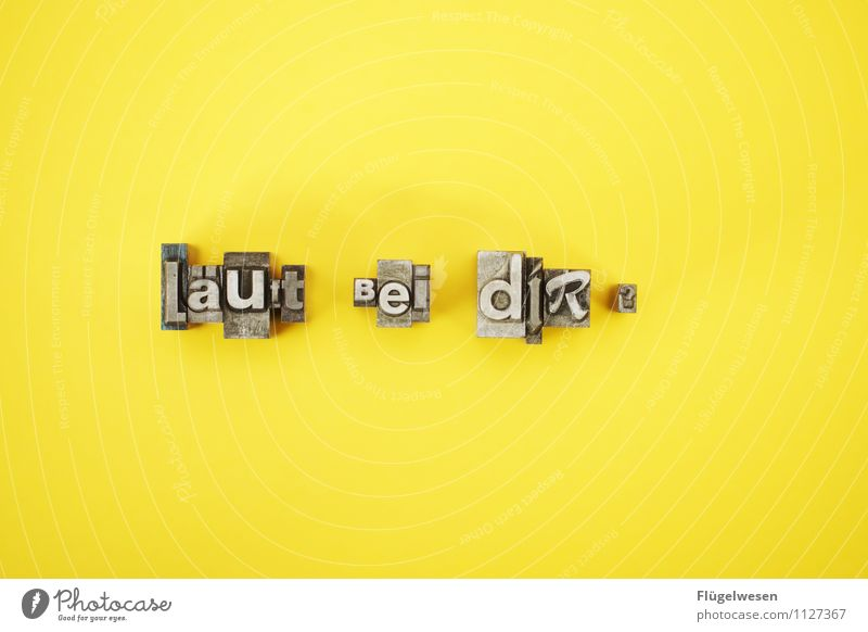 läuft bei dir? Freude gelb Liebe Stil Lifestyle Design Büro elegant Musik Metallwaren lesen Coolness Buchstaben schreiben Veranstaltung Euphorie
