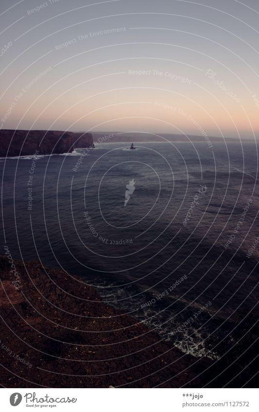 atlanticism. Natur Ferien & Urlaub & Reisen blau Meer Einsamkeit Landschaft ruhig Strand dunkel Reisefotografie Küste Felsen Horizont Wellen Bucht Brandung
