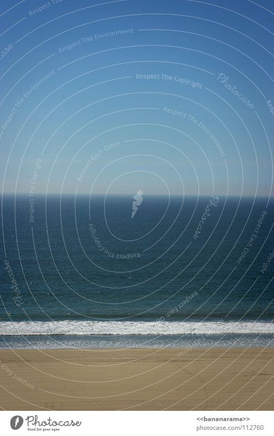Titanic - 95 years later Wasser Himmel weiß Meer grün blau Sommer Strand Ferien & Urlaub & Reisen ruhig See Sand Linie Wasserfahrzeug Wellen Horizont