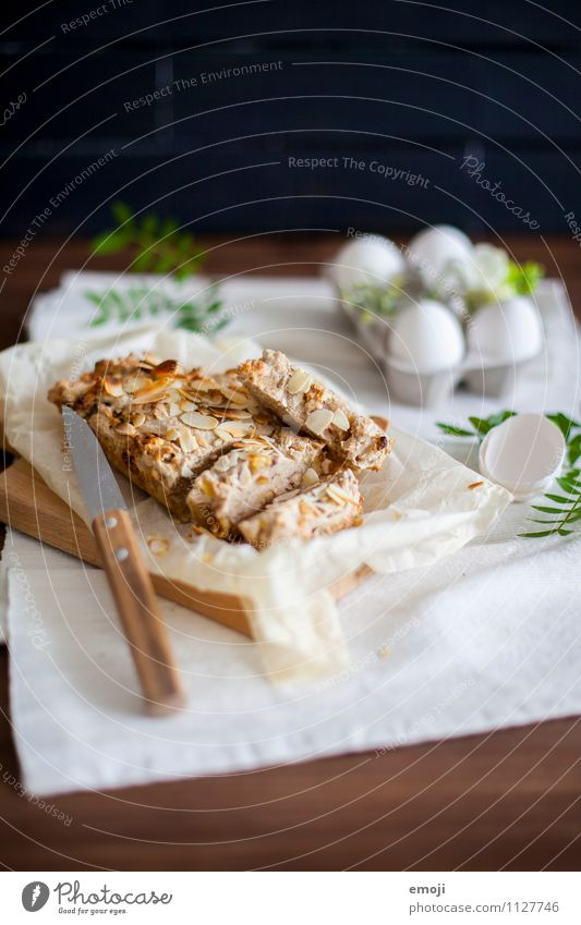 Brot Teigwaren Backwaren Kuchen Ernährung Büffet Brunch Bioprodukte Vegetarische Ernährung frisch lecker Farbfoto Innenaufnahme Menschenleer Textfreiraum oben