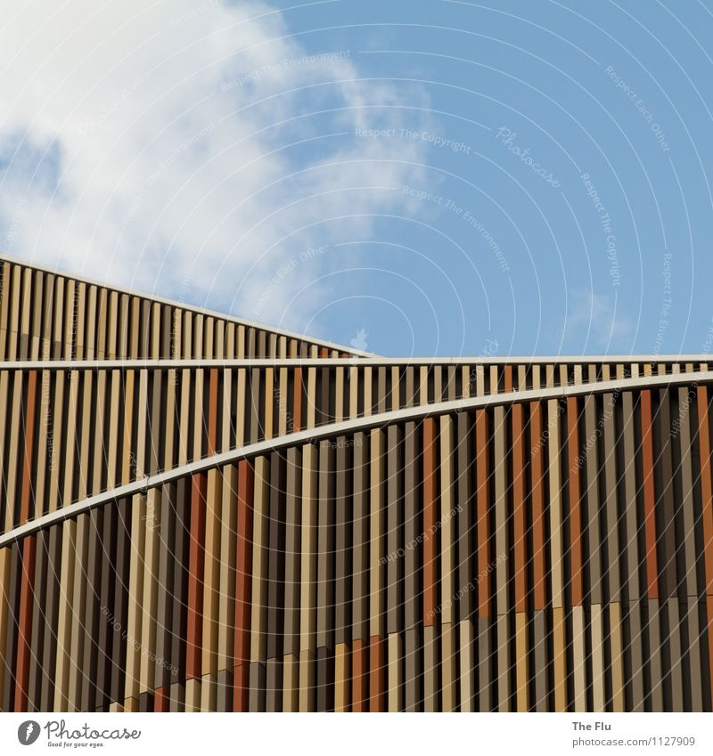 Alles Nur Fassade Himmel Blau Weiß Rot Wolken Gelb Wand Architektur Gebäude  Mauer Holz Grau Braun