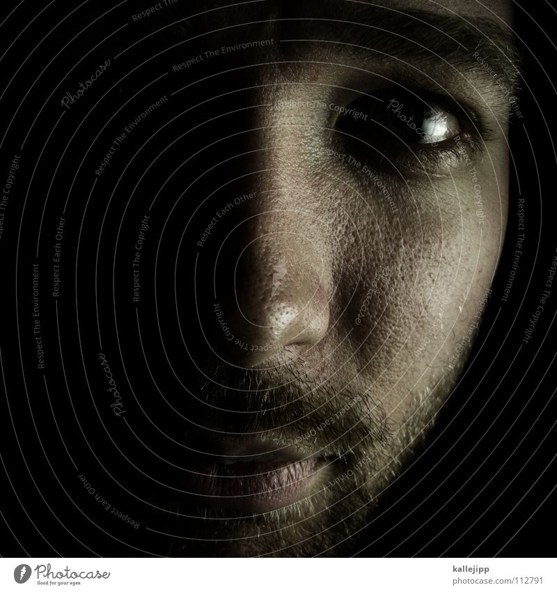 folienhalter Mann Freude Auge Gefühle Tod Haare & Frisuren träumen Denken Mund Nase Coolness T-Shirt Küssen Sehnsucht Bart Pullover