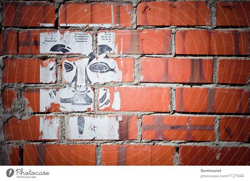 V Stadt Gebäude Mauer Wand Zusammensein Backsteinwand Plakat Revolution Filmfigur rebellieren Demonstration Aufstand Werbebranche Information