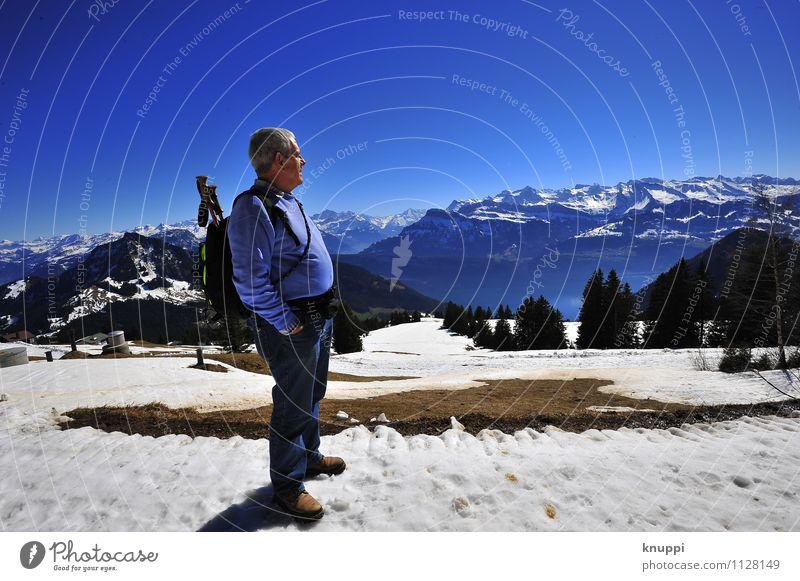 Winter IV Mensch maskulin Männlicher Senior Mann Großvater Familie & Verwandtschaft Leben Körper 1 60 und älter Umwelt Natur Landschaft Pflanze Luft Himmel