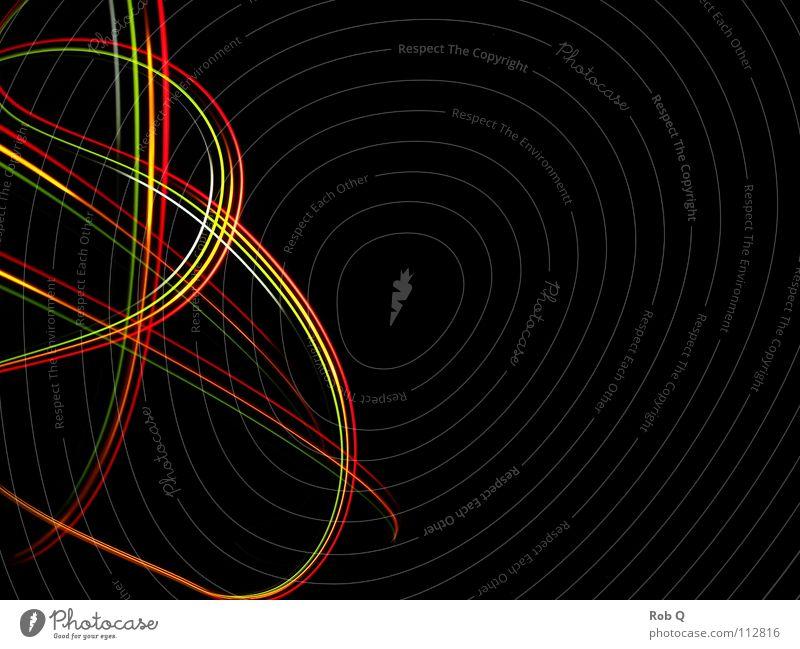 Night Visions Licht Nacht Geschwindigkeit mehrfarbig dunkel Innenaufnahme Außenaufnahme Langzeitbelichtung Elektrisches Gerät Technik & Technologie Freude Light