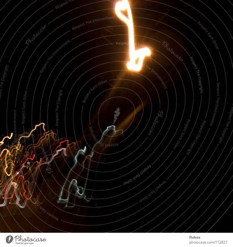 Kein Plan... Farbe Straße Graffiti hell glänzend leuchten Brille Straßenbeleuchtung obskur durcheinander Fleck Unfall seltsam Scheinwerfer glühen unklar