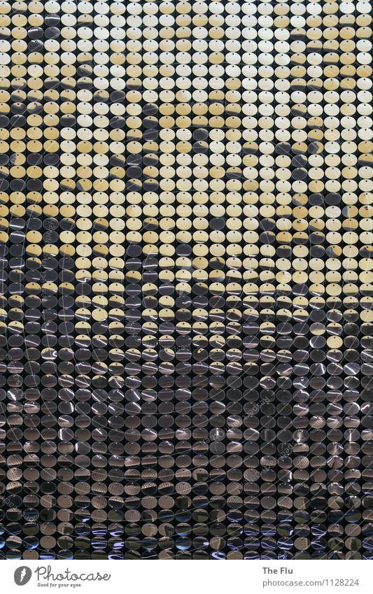 Glittering Performance Design Pailletten Metall Ornament ästhetisch elegant rund gold grau silber Farbe Reichtum Erotik Surrealismus Symmetrie glänzend