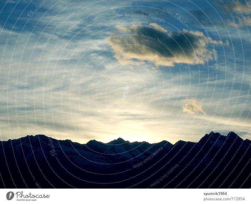 Alpenhimmel Wolken Südtirol Berge u. Gebirge Himmel Abend Sonne Sonnenuntergang
