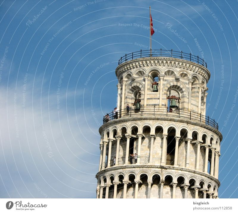 Pisa-Studie Italien Europa Campanile Außenaufnahme Himmel historisch Wahrzeichen Denkmal blau Turm PISA-Studie Ferne alt Vergangenheit sky blue architecture