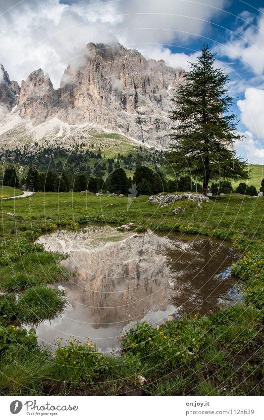 Spiegelberg Himmel Natur Ferien & Urlaub & Reisen Sommer Landschaft Wolken Berge u. Gebirge Frühling Wiese Felsen Tourismus Idylle Ausflug Abenteuer Gipfel