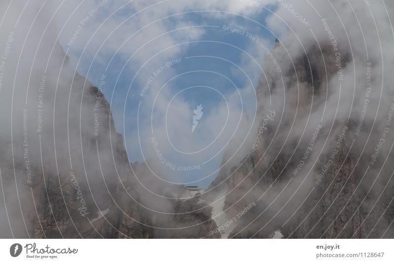 Toni-Demez-Hütte Himmel Natur Ferien & Urlaub & Reisen Sommer Landschaft Wolken Berge u. Gebirge Herbst Frühling Felsen Tourismus Wetter Nebel Klima Abenteuer