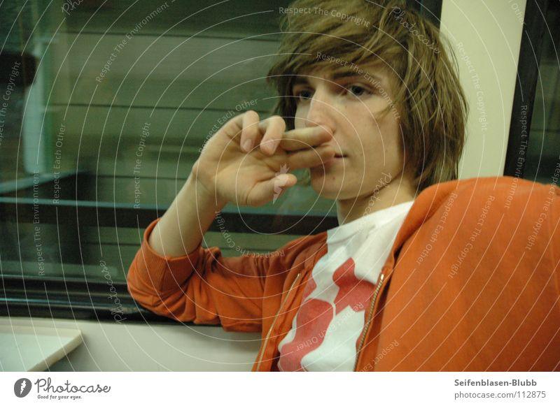 Karnevalskind Jugendliche weiß rot Haare & Frisuren Wege & Pfade Denken orange Finger Eisenbahn verrückt außergewöhnlich süß Prima unterirdisch