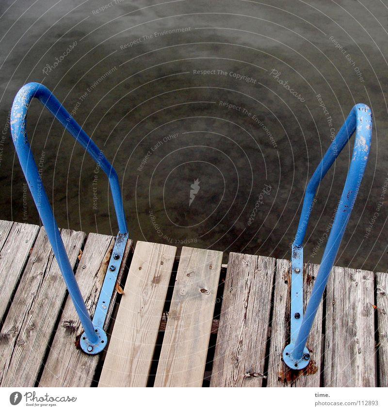 8° - Wollnse nich? Wasser blau Strand Herbst Holz Wege & Pfade See 2 Metall Küste nass geheimnisvoll verfallen Teile u. Stücke Grenze Steg