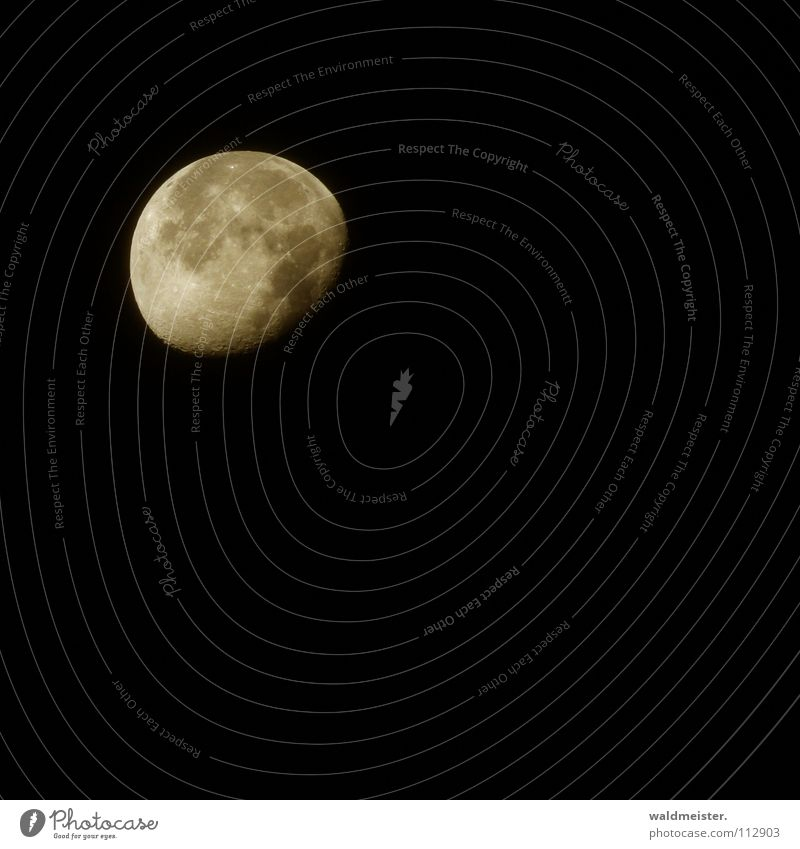 Mond (mit Canon) Himmel träumen Planet Himmelskörper & Weltall Vulkankrater Astronomie Werwolf Astrologie Mondsüchtig abnehmend Astrofotografie