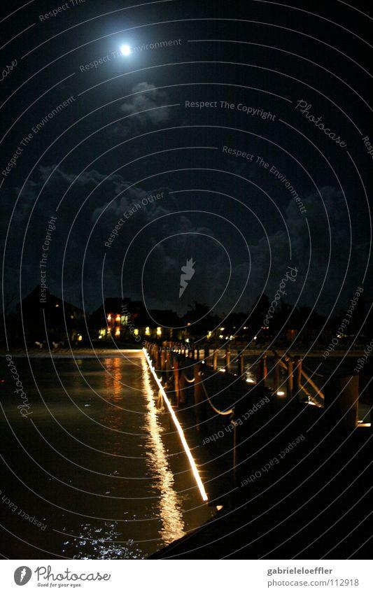Cozumel at night. Himmel Ferien & Urlaub & Reisen Wärme Physik Anlegestelle Mexiko Yucatan Holzmehl Tauchgerät