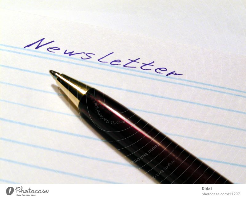 newsletter Business Papier Brief schreiben Dinge Post Rundbrief