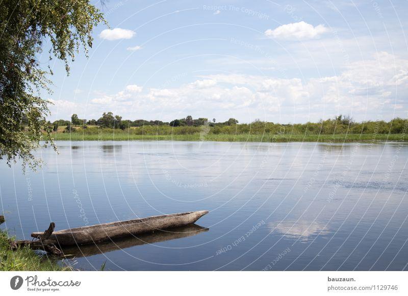 stille. Himmel Natur Ferien & Urlaub & Reisen schön Sommer Wasser Baum Erholung Landschaft Ferne Umwelt Gras Freiheit Wetter Zufriedenheit Idylle