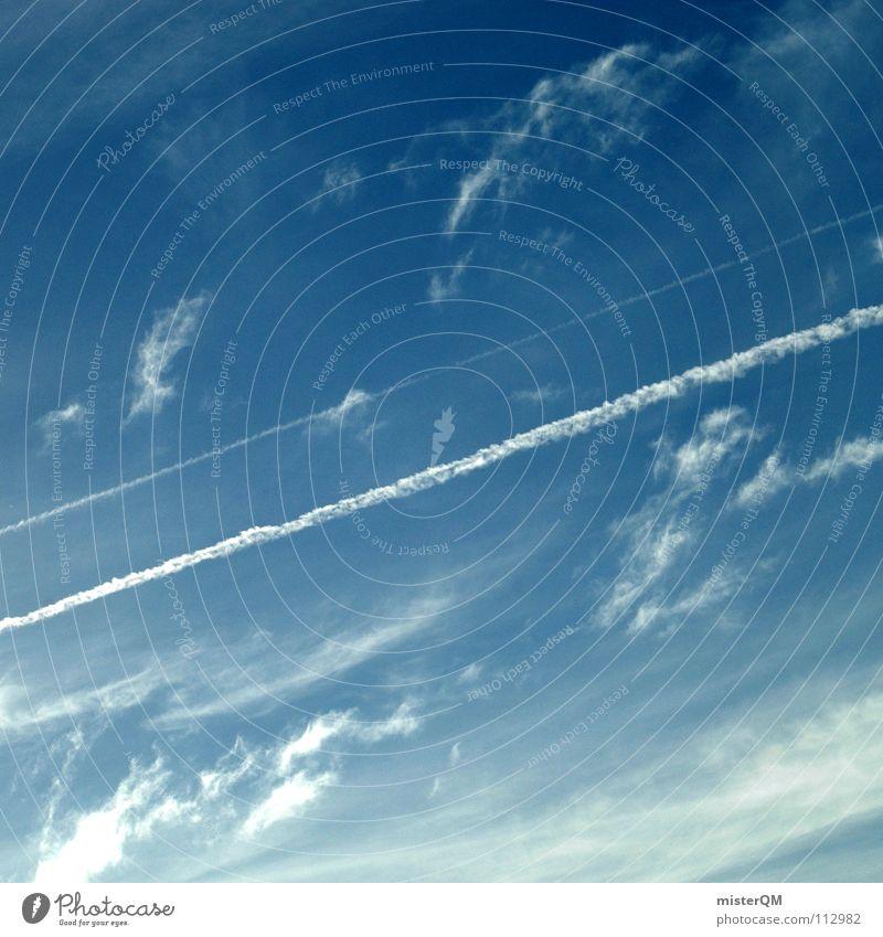 good bye blue sky Himmel Ferien & Urlaub & Reisen blau schön Sommer weiß Sonne Meer Erholung Einsamkeit Wolken Freude Ferne Fenster kalt Wärme