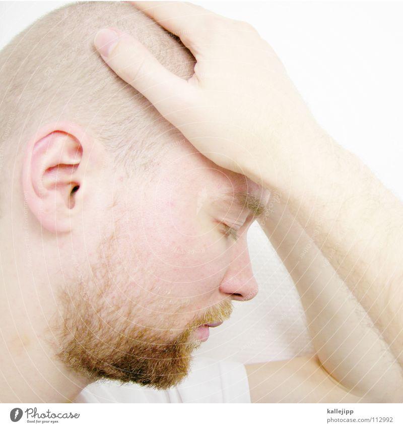 one day in glory Mann Freude Auge Tod Gefühle Haare & Frisuren Denken träumen Mund Nase Coolness T-Shirt Sehnsucht Bart Trennung Pullover