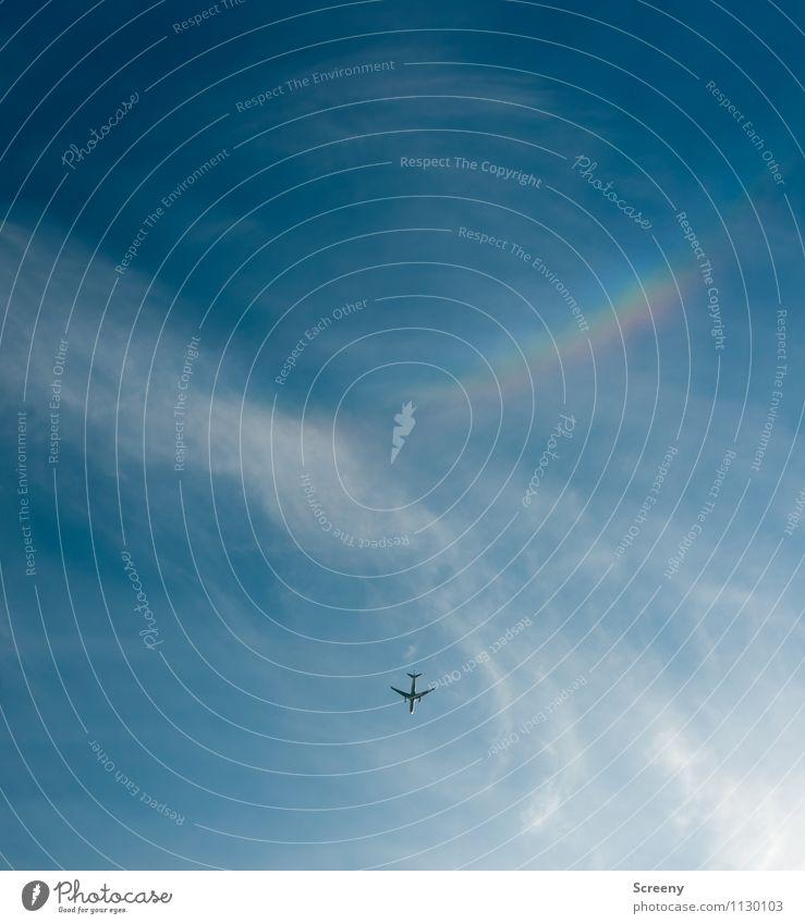 Flieger, grüß mir die Sonne... Himmel Ferien & Urlaub & Reisen blau Sommer Wolken Ferne Freiheit fliegen Tourismus Luftverkehr Verkehr hoch Geschwindigkeit
