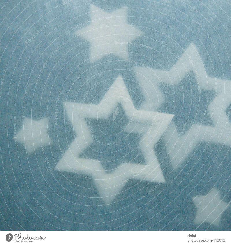 Stars und Sternchen... blau Weihnachten & Advent weiß Winter klein Zusammensein liegen groß Stern (Symbol) Ecke Dekoration & Verzierung Spitze zart Schmuck