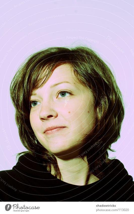 Jo Hanna Frau Mensch schön blau Freude Gesicht Auge lachen Haare & Frisuren Hoffnung violett magenta Cross Processing Naivität