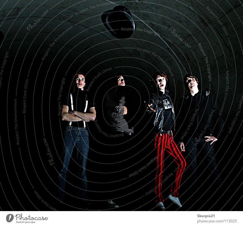 The Stories Mensch Freude dunkel Musik Menschengruppe Konzert Schnur Rockmusik Tunnel Hut werfen Photo-Shooting Zylinder