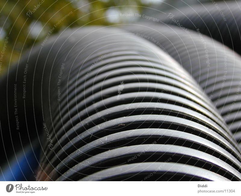 Riffelrohr Kabel Baustelle Röhren Fototechnik
