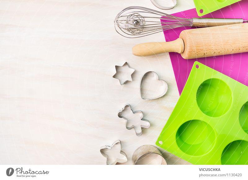 Geräte fürs Plätzchen und Muffin Backen Weihnachten & Advent weiß Stil Hintergrundbild Feste & Feiern Design Herz Dinge Kochen & Garen & Backen Zeichen Küche