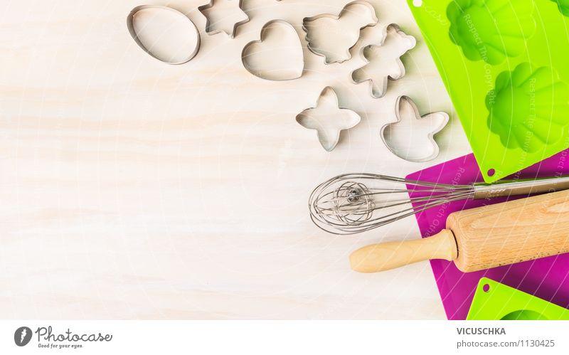 Ostern backen. Küchengeräte Dessert Ernährung Geschirr Stil Design Haus Tisch Feste & Feiern Tradition Muffin Cupcake Hintergrundbild Text Symbole & Metaphern