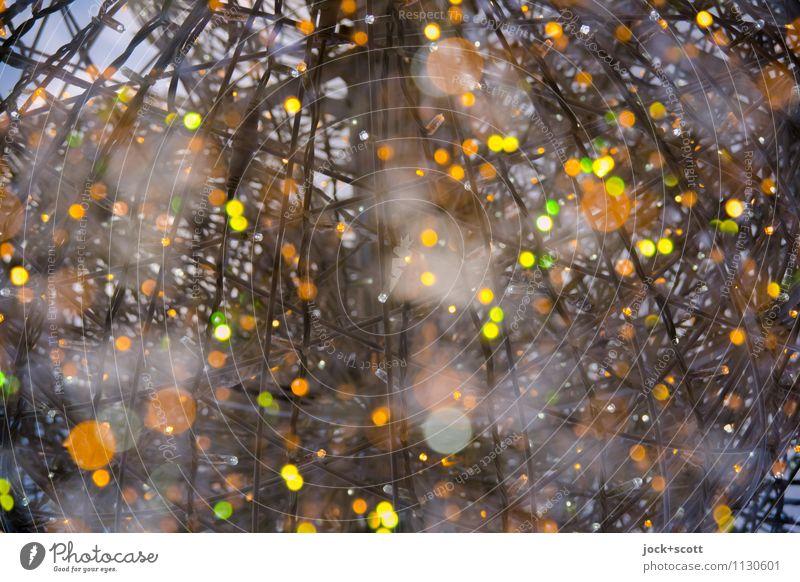 Treffpunkte Lichtpunkte Installationen Weihnachtsbeleuchtung Netzwerk Weltall Punkt glänzend leuchten außergewöhnlich groß Unendlichkeit positiv viele