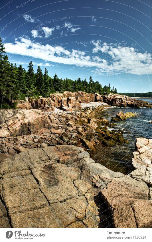 Himmel Ferien & Urlaub & Reisen blau grün Wasser Sommer Meer Landschaft Wolken Küste Felsen Park Wetter Tourismus Abenteuer USA
