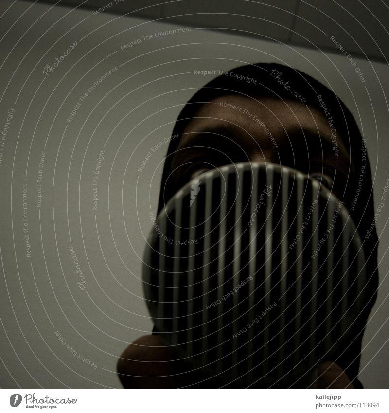 mein fön und ich Mann Gesicht Haare & Frisuren Kopf Luft verrückt Maske trashig Friseur Comic Maul trocknen Filter Lamelle Funktechnik