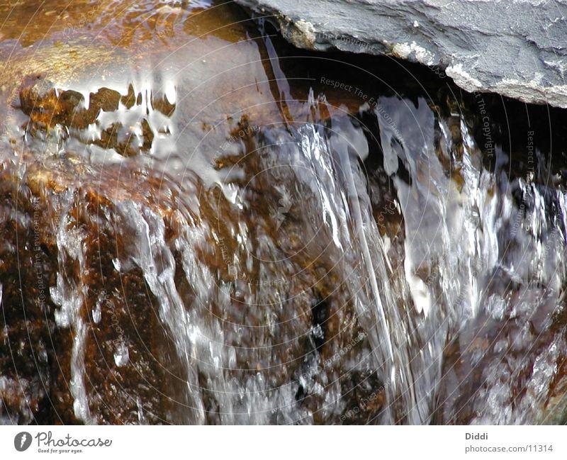 Wasser Stein nass Fluss fließen