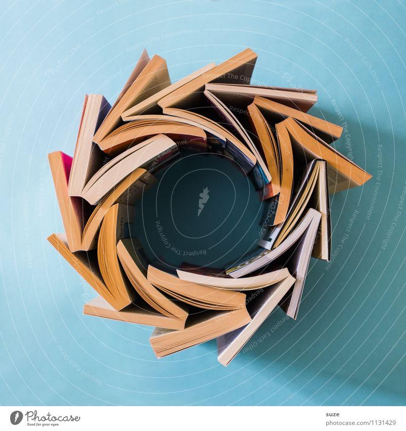 Fressen und gefressen werden Lifestyle Stil Design lesen Bildung Schule lernen Studium Kultur Printmedien Buch Zeichen einfach Neugier rund klug blau Weisheit