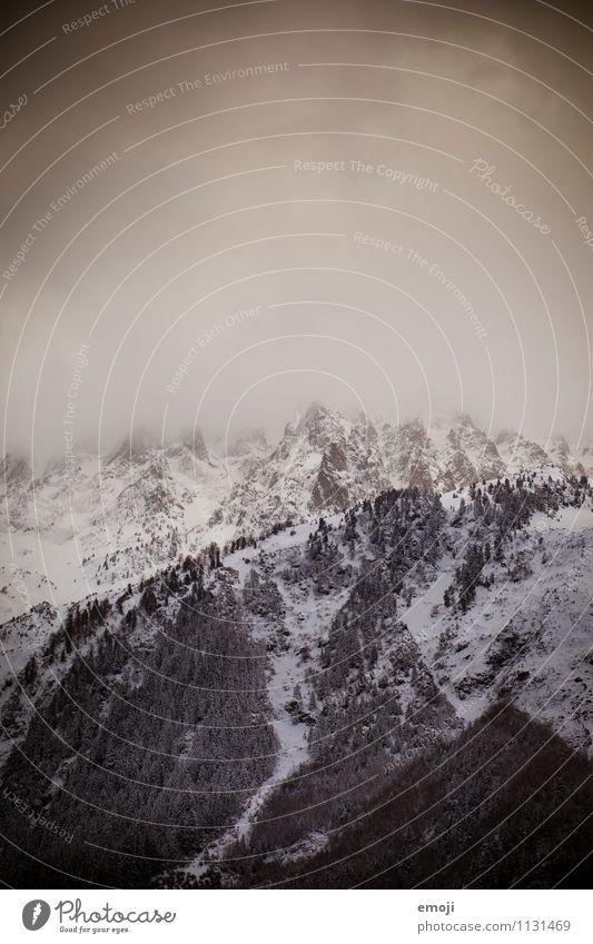 Winter Umwelt Natur Landschaft Klima Klimawandel Unwetter Schnee Alpen Berge u. Gebirge Gipfel außergewöhnlich bedrohlich dunkel natürlich Farbfoto