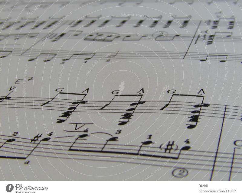Noten2 Musik Papier Dinge Musiknoten