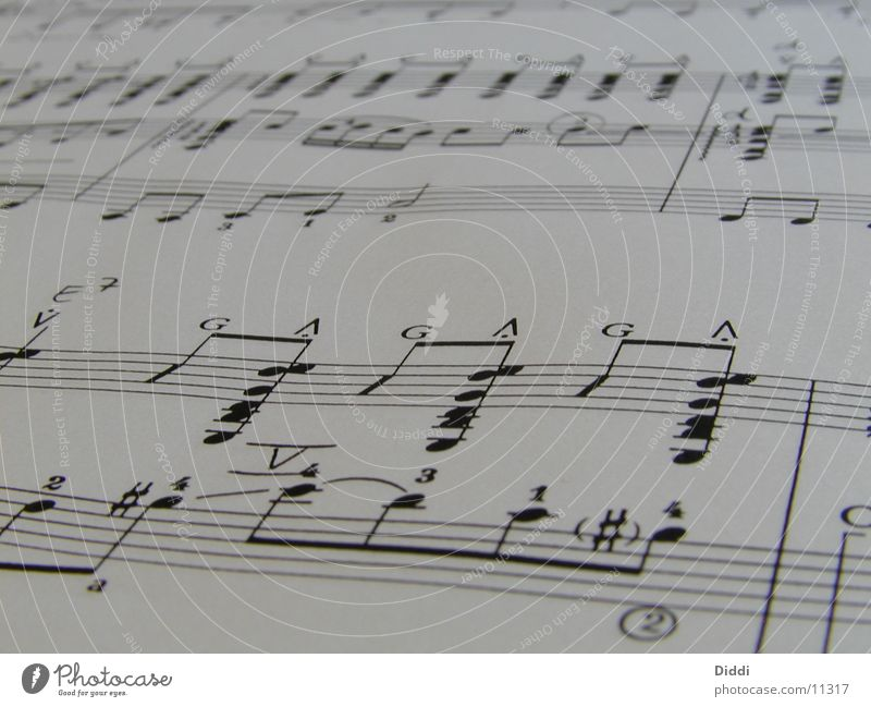 Noten2 Papier Dinge Musiknoten