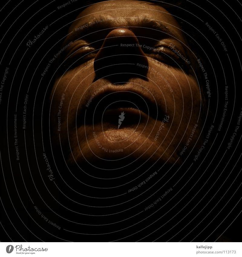 weihnachtsmann Mensch Mann schwarz Gesicht Auge Tod Religion & Glaube Kopf träumen Mund Haut Gold Nase schlafen planen Vergänglichkeit