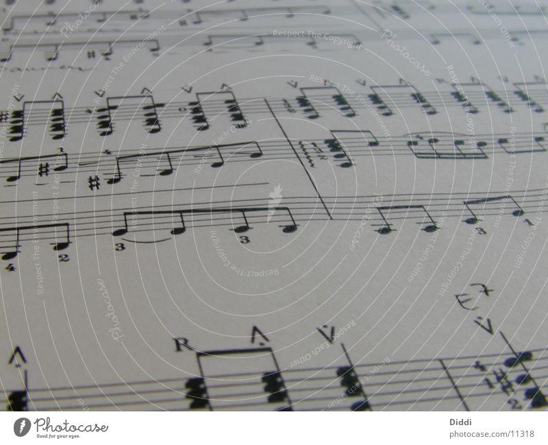 Noten Musik Papier Dinge Musiknoten