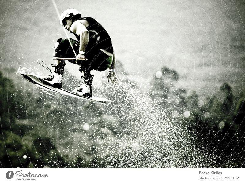 Marreco Brasilien springen Wasser Wassersport wakecup blillabong sports water pedrokirilos marreco pan acqua snow Momentaufnahme Wakesurfing