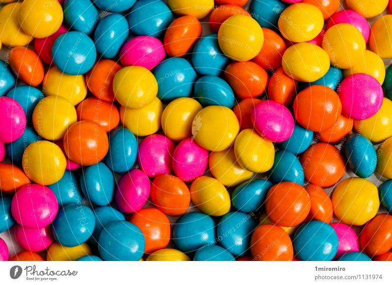 blau Farbe gelb Lebensmittel rosa Snack geschmackvoll