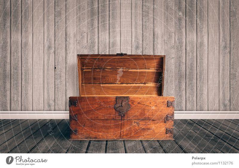 Sarg öffnen alt Stil braun Kunst Dekoration & Verzierung offen groß fallen Möbel Rost Schmuck Etage Lager Kiste antik Container