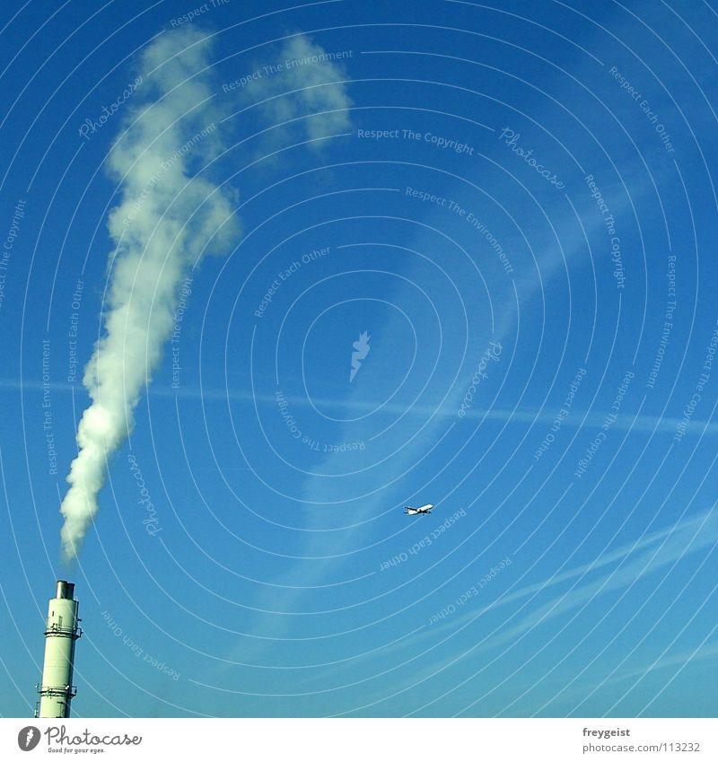 Sünde im Duett... Umwelt dreckig Luftverkehr Abgas Smog Luftverschmutzung Ozon Ozonloch