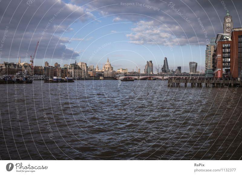 london city Ferien & Urlaub & Reisen Tourismus Sightseeing Städtereise Architektur Umwelt Landschaft Wasser Wolken Wetter Flussufer London Themse Hauptstadt