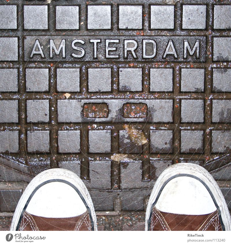 Eine Stadt die man lieben muss!!! Stadt Niederlande Regen Schuhe nass Quadrat Chucks Gully kariert Amsterdam