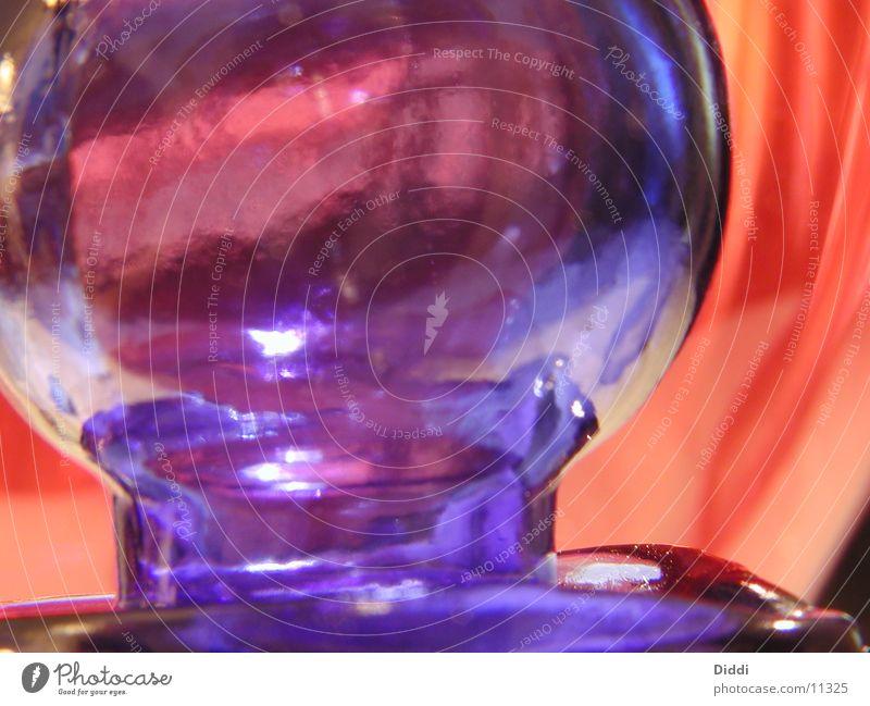 Glasverschluss blau rund Flasche Fototechnik